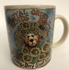 Loyal Order of Friends Boyds Bear Coffee Mug Cup 1998 Sunny Day Sunflowers