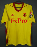 ADIDAS FC WATFORD 2017/2018 HOME SOCCER FOOTBALL SHIRT JERSEY CAMISETA SIZE M