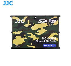 JJC MCH-SD4YG Camouflage Pocket Credit Card Memory Card Holder for 4 SD cards