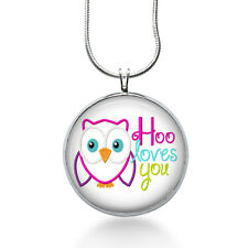 Hoo Loves You Necklace, Animal Pendant, owl,gifts for women,jewelry, necklace