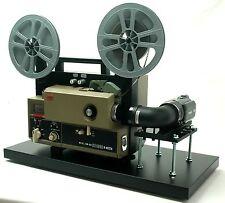 Elmo Super 8 Sound Movie Projector Telecine Video Transfer Built-In 2Khd Camera