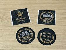 More details for  4 x vintage john player special jps motor racing cloth patches f1 + rally