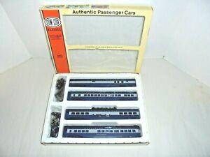 CON-COR HO SCALE TRAIN SET OF 4 BALTIMORE AND OHIO PASSENGER CARS  MIB