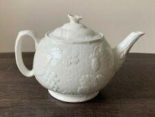 BURLEIGH DAVENPORT 4 Cup Teapot & Lid - Embossed Strawberries & Grape Leaves