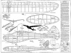 """BERKELEY SUPER SINBAD, Ribs and Formers ONLY, Free Flight Glider, W/S 62"""""""