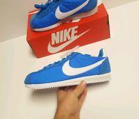 Nike Classic Cortez Nylon Shoes Photo Blue White Pale Grey 807472 400 Size 10