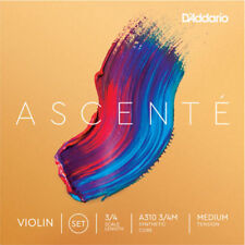 D'Addario A310 3/4M Ascenté Violin String Set, 3/4 Scale, Medium Tension