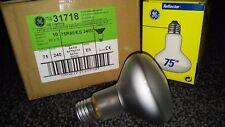 10x GE Luce Diffusa Bianco R80 75W E27 ES Regolabili Riflettore