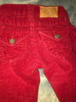 True Religion Girls Red Jeans Corduroy  Pants  Size 4