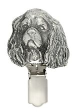 Cavalier King Charles Spaniel2, silver covered clipring, high qauality ArtDog UK