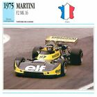 Martini F2 MK 16 Course 4 Cyl. BMW 1975 France CAR VOITURE CARTE CARD FICHE