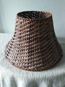 Vintage Cane Lampshade Boho Tiki 1960s70s Retro