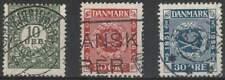Denemarken gestempeld 1926 used 153-155 - Postzegels 75 Jaar (1)