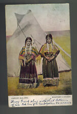 1907 Picture Postcard Cover Native American Indian Sarcee Squaws Canada England