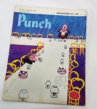 Punch Magazine British Political Satire 15 January 1969 Unaccustomed As I Am