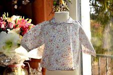 blouse bonpoint 3 mois  petites fleurs douces etat neuf