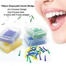 100Pcs Dental Kunststoff Poly Wedges mit Löchern runden Stern New Hot nett