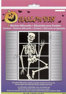 Halloween Spooky Scary Party 1 x Skeleton Bone Window Silhouette Decorations