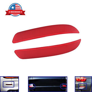 Pair of Red Lens Cover Rear Bumper Reflector Lamp Fit for 2006-2013 BMW X5 E70