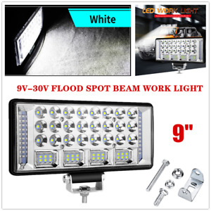 "9"" 9V-30V Offroad Boat LED Work Light Flood Spot Beam Driving Fog Lamp Universal"