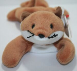 Retired Ty Beanie Baby - Sly the Fox  - 1996 PVC ERRORS Style #4115