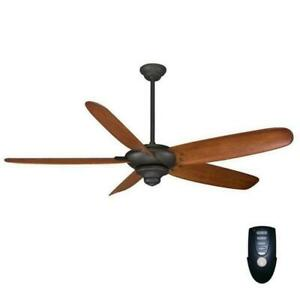 "HDC Altura 68"" Indoor Oil Rubbed Bronze Ceiling Fan with Remote Control 26668"