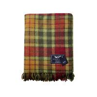 New Scottish The Golden Eagle Picnic Travel Rug Throw Wool Tartan Reversible