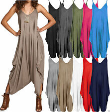 Womens Cami Romper Lagenlook Baggy Harem Jumpsuit Playsuit Ladies Plus Size