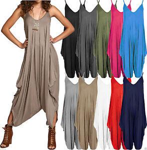 Womens Cami Jumpsuit Baggy Harem Lagenlook Playsuit Ladies Dress Romper Alibaba