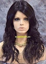 Long Wavy With Bangs Off Black Auburn Mix Full Synthetic Wig Hair Piece #F1B.30