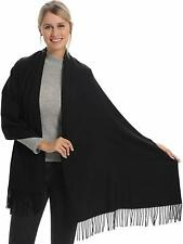Soft Cashmere Wool Acrylic Blend Pashmina Scarf, Wrap And Shawl For Women