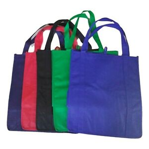 1 Grocery Shopping Bag Tote, Beach Tote Strong Non-Woven 5 Colors Offered