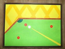 New listing 1985 'Tich' Herald 1955-1998 Oil on Canvas Signed Snooker / Billiards Painting