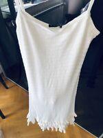Sisley Italy White Crochet Maxi Dress Summer Size S Netaporter Blogger Style