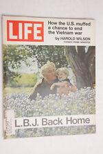 Life 1971 LBJ Back Home May Vietnam Harold Wilson Pepsi Shell Stanley Doral M07