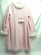 Juicy Couture Pink Faux Fur Collar and Sleeves Dress 3T