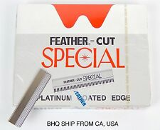 FEATHER CUT STAINLESS X 100PCS BLADE HAIR STYLING RAZOR THINNING (JAPAN)