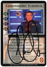 Babylon 5 CCG Deluxe Embossed Card Commander Ivanova Claudia Christian Autograph