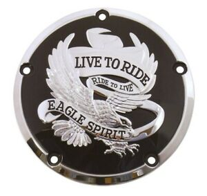 Live To Ride Eagle Primary Clutch Derby Cover 78163 Harley Twin Cam 99-16