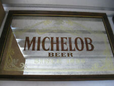 Vintage Anheuser-Busch Michelob Beer Framed Bar Mirror Sign