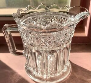 Lead Glass Crystal Coffee Creamer Exquisite Cuts