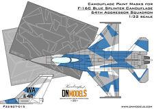 F-16C Blue Splinter Aggressor Camouflage 1/32 Camo Paint Masks F-16 DN Models