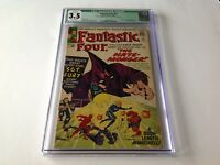 FANTASTIC FOUR 21 CGC 3.5 1ST HATE MONGER SGT FURY CROSSOVER KIRBY MARVEL COMICS
