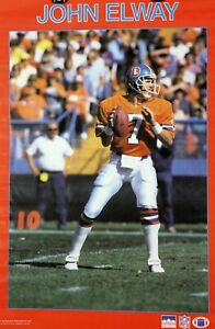 Vintage JOHN ELWAY #7 Denver Broncos 34 x 22 NFL 1987 Starline Poster