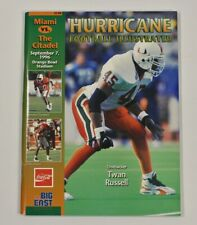 Miami Hurricanes Football Program Citadel September 7 1996 Orange Bowl VTG 90s