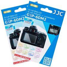 "JJC 2PCS 0.01"" Optical Glass Screen Film Protector for CANON EOS 6D Mark II 6DM2"