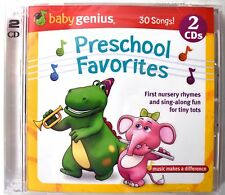 Baby Genius Preschool Favorites CD Nursery Rhymes & Sing-Along (2 Disc Set) >NEW