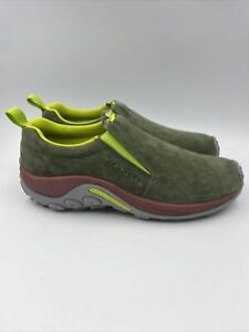Merrell Mens Jungle moc Lichen slip pn shoes size 9.5 M , 114