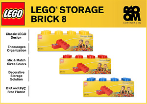 NEW - LEGO Storage Brick 8 - Red / Blue / Yellow (FREE SAME DAY DELIVERY)