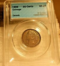 1858 Canada 20 cent - CCCS - VF
